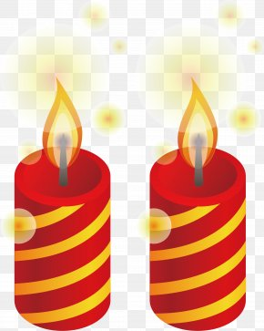 Candle Vector Element - Birthday Cake Candle Clip Art PNG