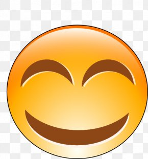 Smiley Laughing Hysterically - Smiley Laughter Emoticon Clip Art PNG