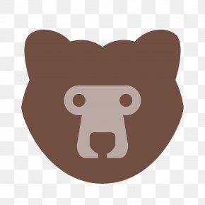 Bear - Snout Nose Mammal Cartoon PNG