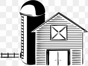 Barn Outline Cliparts - Silo Black And White Farm Barn Clip Art PNG