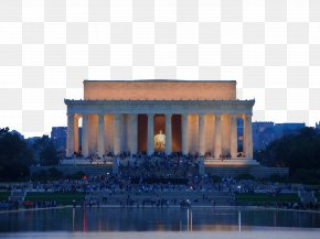 Lincoln Memorial At Night - Lincoln Memorial Washington Monument Thomas Jefferson Memorial United States Capitol Abraham Lincoln PNG