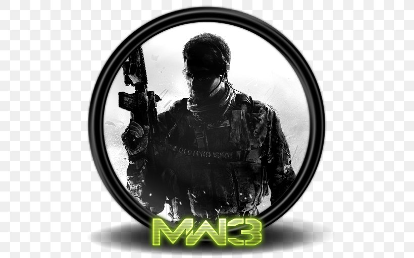 Black And White Font, PNG, 512x512px, 8k Resolution, Call Of Duty Modern Warfare 3, Activision, Black And White, Call Of Duty Download Free