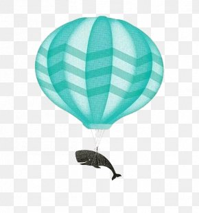 Dolphin Hot Air Balloon - IPhone X IPhone SE Whale Balloon Modelling Illustration PNG