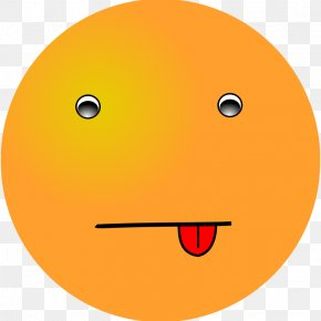 Happy Face With Tongue Sticking Out - Smiley Emoticon Tongue Clip Art PNG