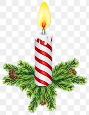 Holiday Leaf - Birthday Candle PNG