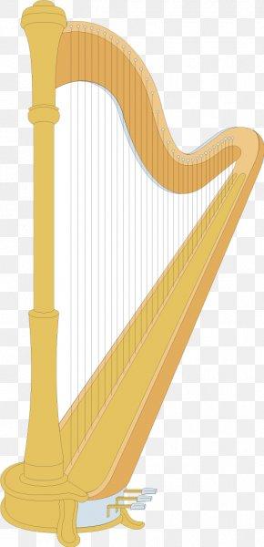 Harp Vector Yellow - Celtic Harp Clip Art PNG