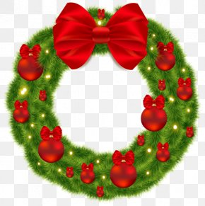 Christmas - Christmas Ornament Wreath Christmas Decoration Santa Claus PNG