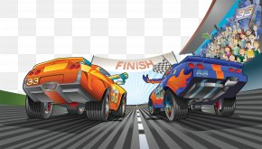 The End Of The Car Sprint - Circuit Of The Americas Formula One Auto Racing Illustration PNG