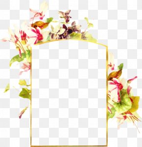 Plant Picture Frame - Watercolor Background Frame PNG