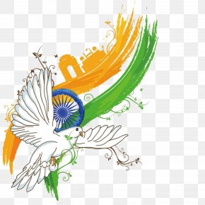 Vector Dove India Independence Day - Indian Independence Day Poster Illustration PNG