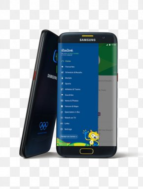 Korea Samsung Mobile Phone HD Material - Samsung GALAXY S7 Edge 2016 Summer Olympics Samsung Electronics United States Olympic Committee PNG
