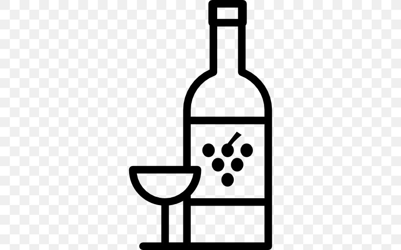 Wine Glass White Wine Beer Champagne, PNG, 512x512px, Wine, Alcoholic Drink, Beer, Black And White, Bottle Download Free