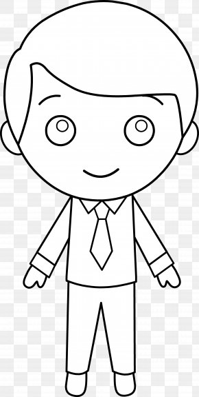 Black Boy Picture - Black And White Boy Drawing Line Art Clip Art PNG