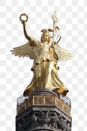 Goddess - Berlin Victory Column Brandenburg Gate Monument Statue PNG