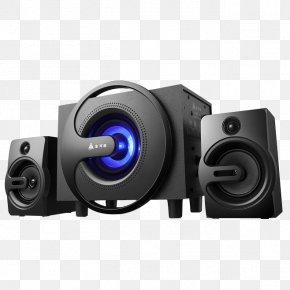 Golden Desktop Magnetic Full-range Speaker - Loudspeaker Wireless Speaker Bluetooth Subwoofer Light-emitting Diode PNG