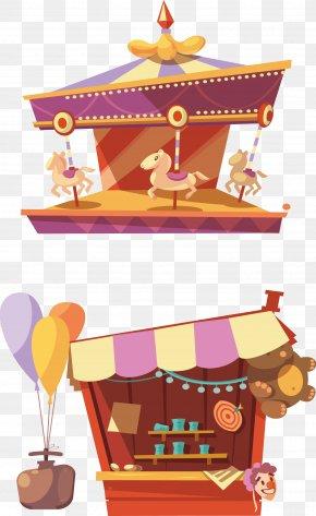 Amusement Park Vector Material - Carousel Gardens Amusement Park Roller Coaster PNG