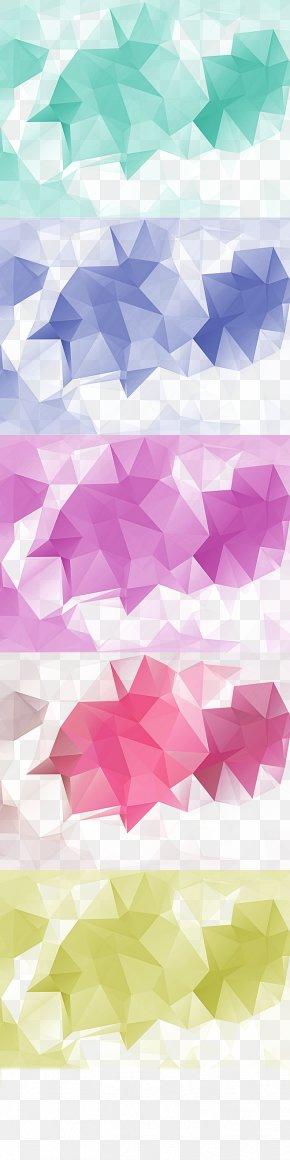 Diamond Element Collection - Web Banner Monochrome PNG