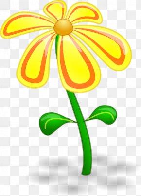 Cartoon Flower Cliparts - Flower Yellow Clip Art PNG