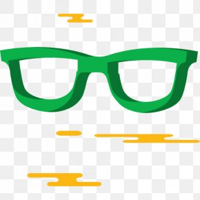 A Green Glasses - Goggles Glasses T-shirt Ophthalmology Icon PNG