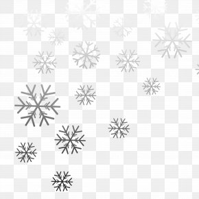 Black And White Gradient Snowflakes - Black And White Snowflake Gradient Computer File PNG