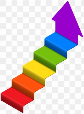 Arrow Stairs Clip Art Image - Stairs Clip Art PNG