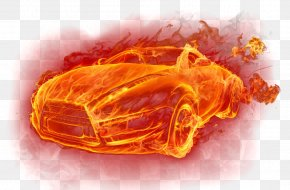 Car Fire Effect - Car Vehicle Fire Computer File PNG