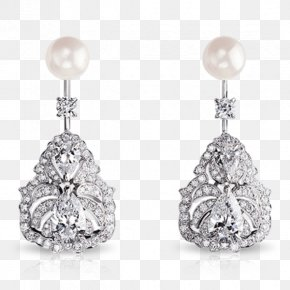 Jewellery - Pearl Earring Jewellery Diamond Gemstone PNG