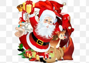 Santa Claus,Cartoon,Christmas,red - Santa Claus Christmas Ornament PNG