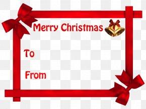 Name Tag - Christmas Gift Christmas Gift Holiday Santa Claus PNG