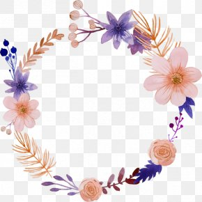 Watercolor Flowers - Flower Watercolor Painting Wreath Illustration PNG