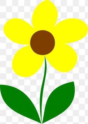 Stem Cliparts - Flower Yellow Plant Stem Pink Clip Art PNG