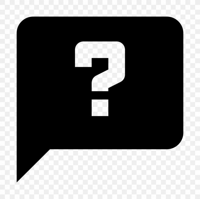 Question Mark Icon, PNG, 1600x1600px, Question, Black, Black And White, Brand, Computer Software Download Free