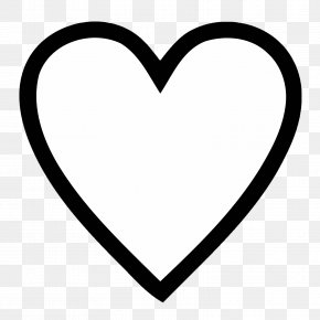 Simple Heart Outline - Tattoo Artist Idea Love PNG