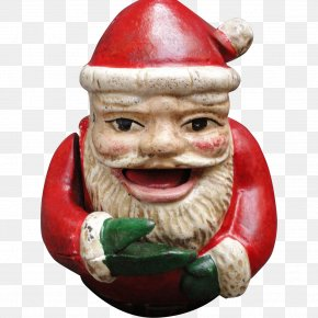 Santa Claus - Santa Claus Mechanical Bank Christmas Cast Iron Garden Gnome PNG