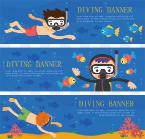 Swimming Poster Design - Underwater Diving Scuba Diving PNG