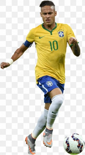 Neymar Football Render Athlete - Neymar Brazil National Football Team FC Barcelona 2014 FIFA World Cup PNG