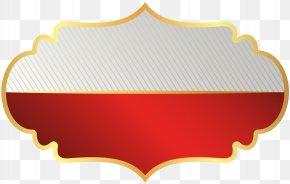 Label Template Red Clip Art Image - Brand Instagram Design PNG