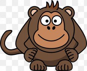 Monkey - Ape Primate Chimpanzee Monkey Clip Art PNG