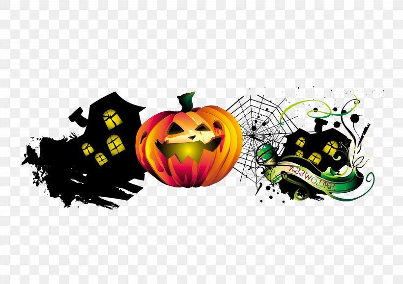 Halloween Pumpkin Graphic Design, PNG, 3508x2480px, Halloween, Brand, Haunted House, Illustration, Logo Download Free