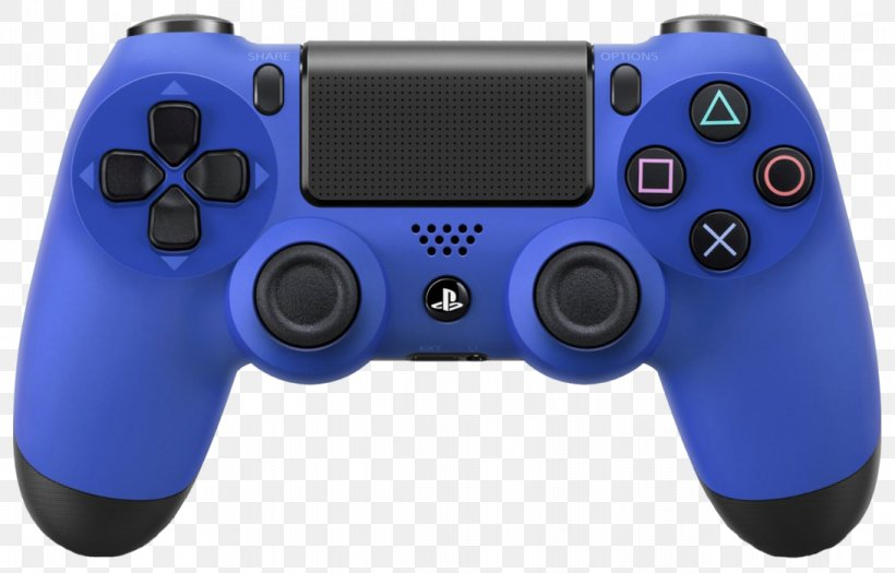 Sony DualShock 4 V2 Sony PlayStation 4 Pro Sony PlayStation 4 Slim Game Controllers, PNG, 1092x700px, Sony Dualshock 4, Analog Stick, Blue, Dualshock, Electric Blue Download Free