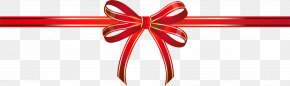 Red Bow Bow - Ribbon Shoelace Knot Gift PNG