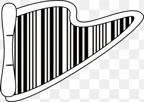 Barcode Harp - Barcode Clip Art PNG