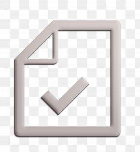 Rectangle Sheet Icon - Check Icon Checkmark Icon Document Icon PNG