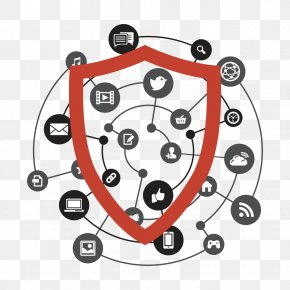 Social Network Safety - Social Media Vector Graphics Social Network Illustration PNG