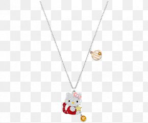 Swarovski Jewellery Ladies Garnet Necklace - Hello Kitty Swarovski AG Necklace Luxury Goods Gift PNG