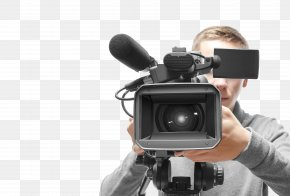 The Reporters Carrying Cameras - Stock Photography Camera Operator Professional Video Camera PNG