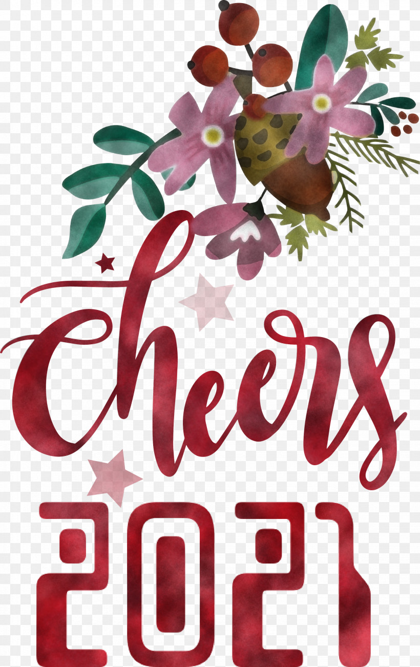 Cheers 2021 New Year Cheers.2021 New Year, PNG, 2046x3249px, Cheers 2021 New Year, Cheers, Floral Design, Free, Pixlr Download Free