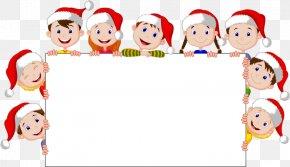 Christmas Border Element - Christmas Child Cartoon Illustration PNG