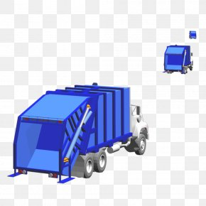 Free Blue Truck Pull Material - Motor Vehicle Garbage Truck Cargo PNG