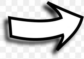 White Arrow Sideways Clip Art - Arrow Clip Art PNG